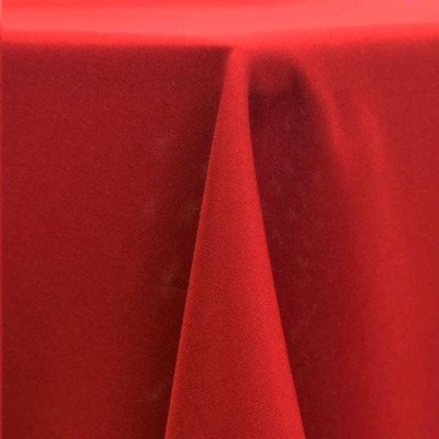 """Round Tablecloth 108"""" Poly Cherry Red picture 1"""