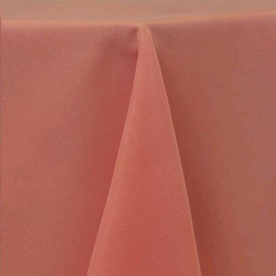 """Round Tablecloth 108"""" Poly Coral picture 1"""