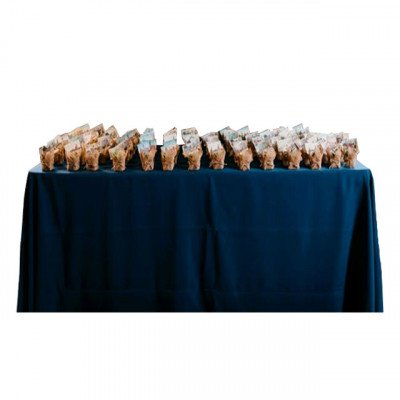 "Round Tablecloth 108"" Poly Dark Blue picture 2"
