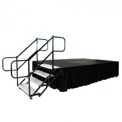 "Stage, 16'X16' Black Plywood Deck 30""-48"" Tall picture 2"