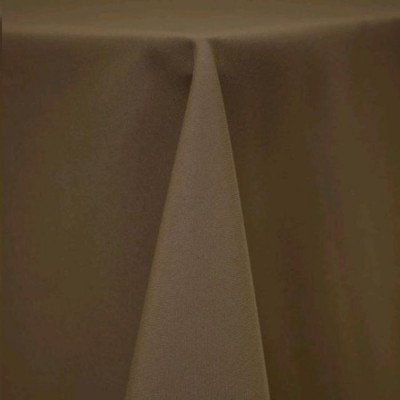"""Round Tablecloth 108"""" Poly Khaki picture 1"""
