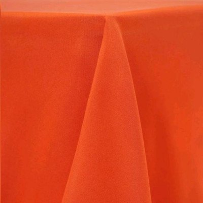 "Round Tablecloth 108"" Poly Orange picture 1"