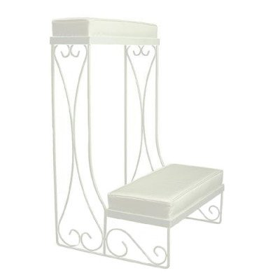 Kneeling Bench, White, Pair picture 1