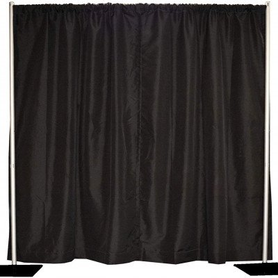 Pipe And Drape, 10'-18'X80' Poly Black picture 1