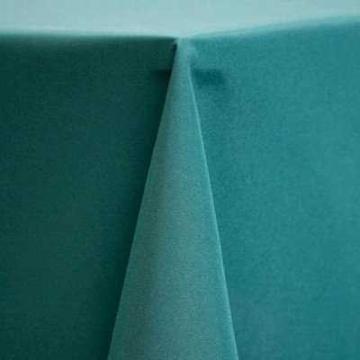 """Round Tablecloth 108"""" Poly Teal picture 1"""