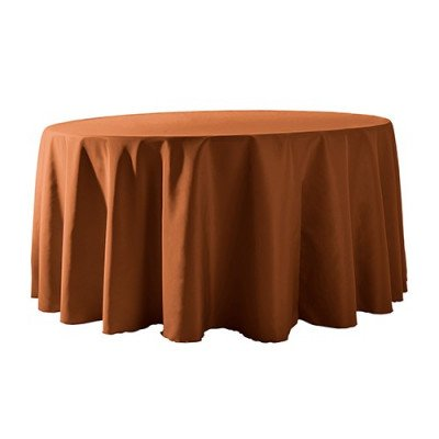 """Round Tablecloth 132"""" Poly Copper picture 1"""