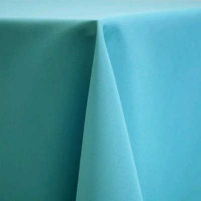 """Round Tablecloth 108"""" Poly Turquoise picture 1"""