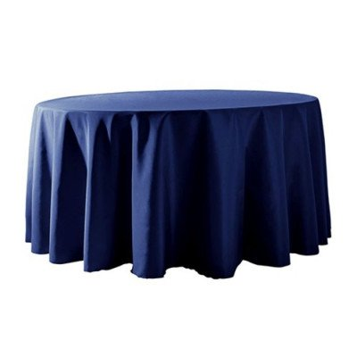 """Round Tablecloth 132"""" Poly Dark Blue picture 1"""