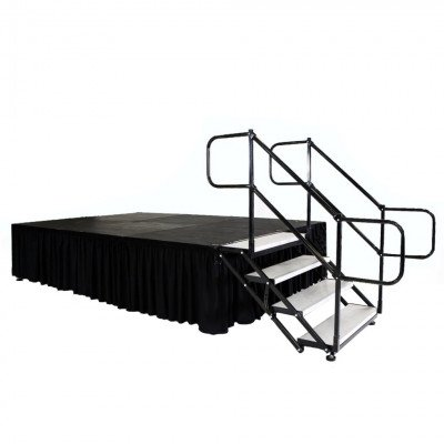 """Stage, 8'X12' Black Plywood Deck 8""""-28"""" Tall picture 2"""