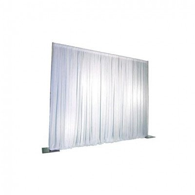 Pipe And Drape, 7'-12'X110' Poly White picture 1