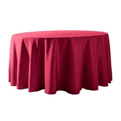 """Round Tablecloth 132"""" Poly Fuchsia picture 1"""