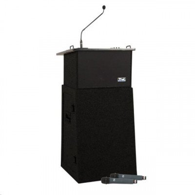Lectern, Including PA Speakers and Microphones picture 1