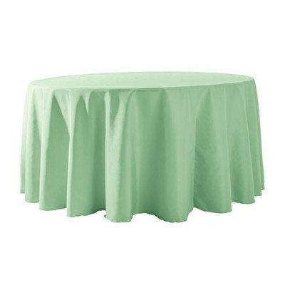 """Round Tablecloth 132"""" Poly Mint picture 1"""