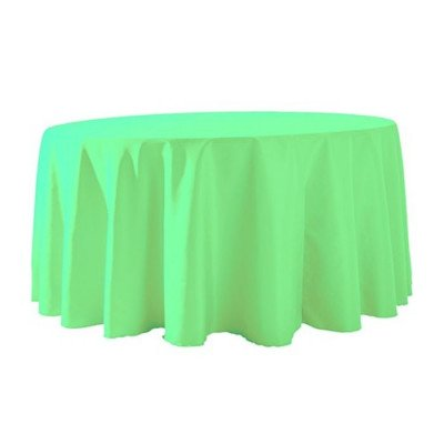 """Round Tablecloth 132"""" Poly Neon Green picture 1"""