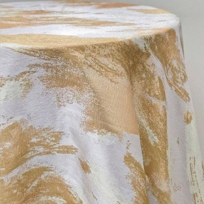 "Round Tablecloth 120"" Artiste Nugget picture 1"
