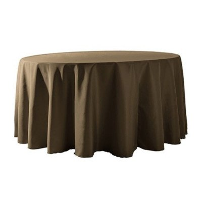 """Round Tablecloth 132"""" Poly Olive picture 1"""