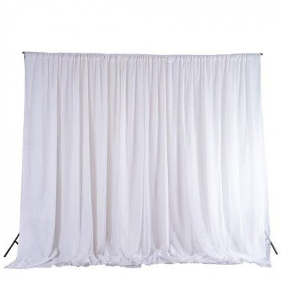 Pipe And Drape, 8'X40' Poly White picture 1