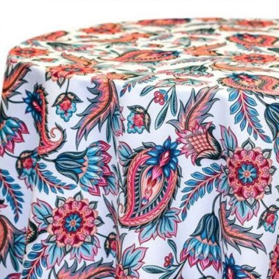 """Round Tablecloth 120"""" Asain Paisley picture 1"""