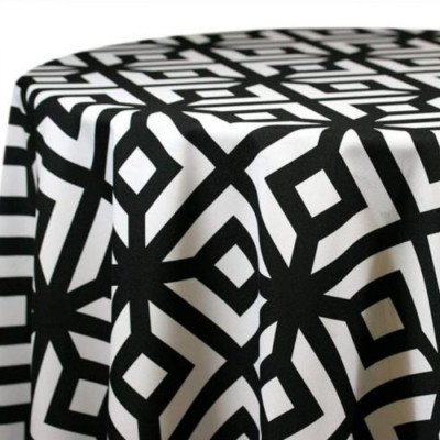 """Round Tablecloth 120"""" Axis Black picture 1"""