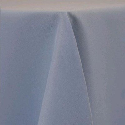 """Round Tablecloth 132"""" Poly Powder Blue picture 1"""