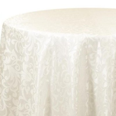 Tablecloth 90X132 Somerset Damask Ivory picture 1
