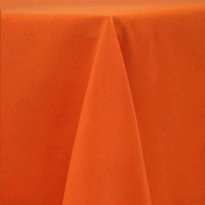 "Round Tablecloth 132"" Poly Pumpkin picture 1"