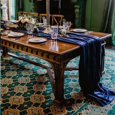 Tablecloth 90X132 Velvet Marine picture 2