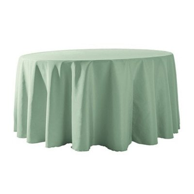 """Round Tablecloth 132"""" Poly Seamist picture 1"""