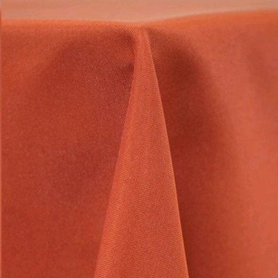 """Round Tablecloth 132"""" Poly Terra Cotta picture 1"""