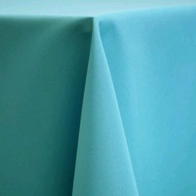 """Round Tablecloth 132"""" Poly Turquoise picture 1"""