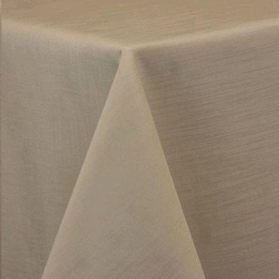 """Round Tablecloth 84"""" Majestic Beige picture 1"""