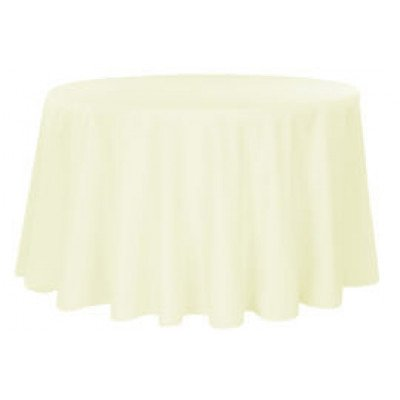 ivory - round tablecloth – poly – 120""