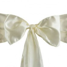 Ivory – Chair Sash - Satin