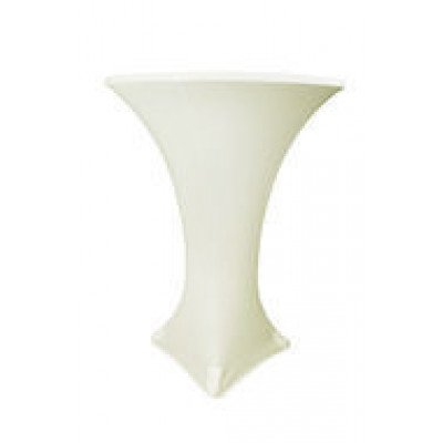 ivory – cocktail table cover - spandex