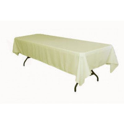 "ivory – rectangle tablecloth – poly - 50""x120"""