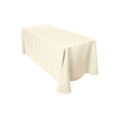 """ivory – rectangletablecloth - poly- 90""""x156"""""""