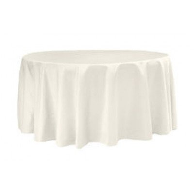 """ivory – round - tablecloth - lamour – 120"""""""
