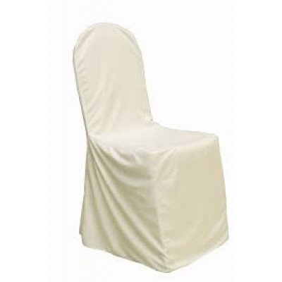 ivory – chair cover banquet - polyester