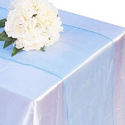 light blue – table runner - organza-1