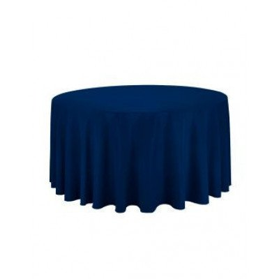 navy blue – round tablecloth – poly – 120""