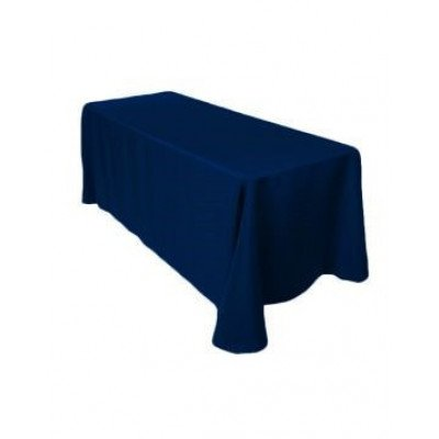 """navy blue - rectangle tablecloth – poly - 90""""x132"""""""