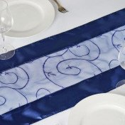 Navy Blue – Table Runner - Embroider