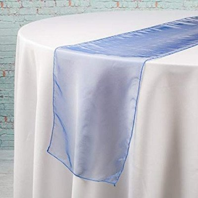 navy blue – table runner - organza-1