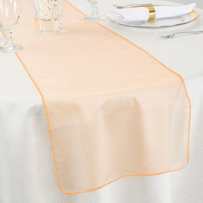 peach – table runner - organza-1