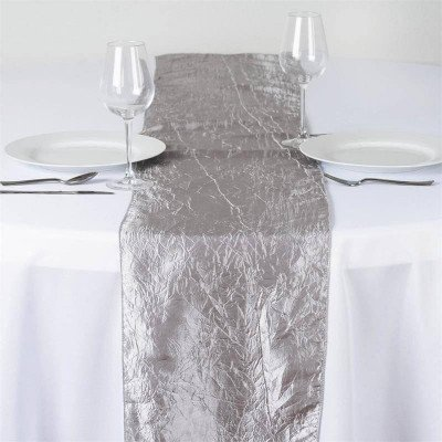 silver – table runner - taffeta crinkle
