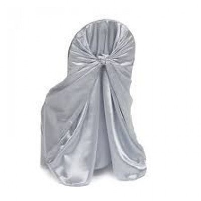 silver – chair cover universal - satin