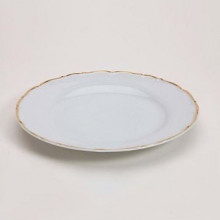 Snow Drop Gold Plate - Dinner