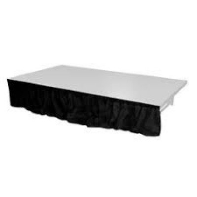 stage skirting-black (8ft x 10 inches)