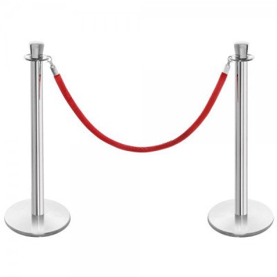 stanchion rope section - red - 6 ft