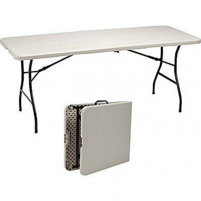 """table rectangle fold-in-half 6ft long x 30"""" wide x 30"""" high"""